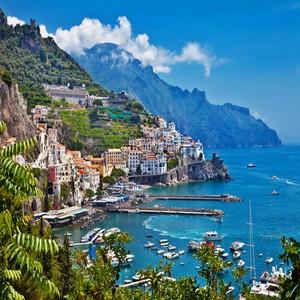 Amalfi kust uitzicht
